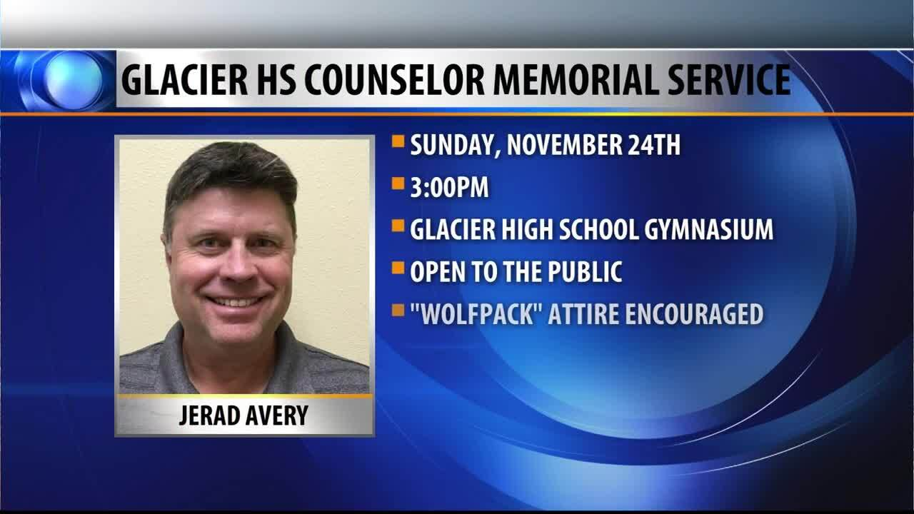 Memorial service set for Glacier HS counselor