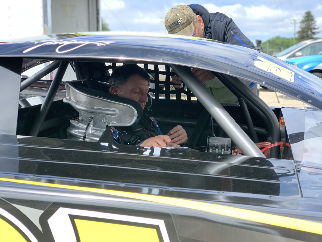 Johnny Benson Jr. at Berlin Raceway