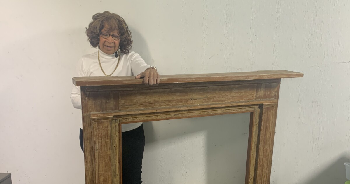Her ancestors forgotten, a mantel from a slaveholder's home bears witness to their lives