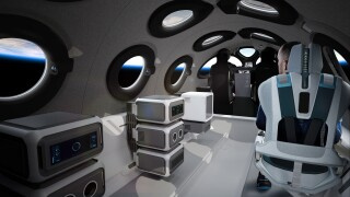 Virgin Galactic Spaceship Cabin In Payload Configuration