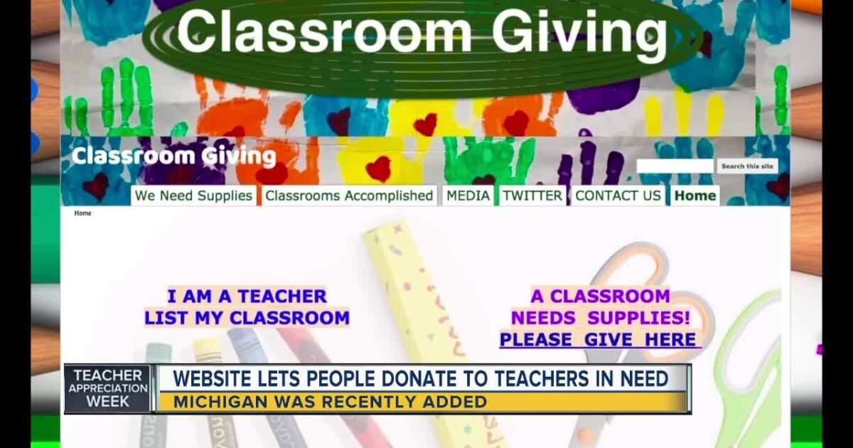 Michigan joins website helping teachers afford classroom supplies