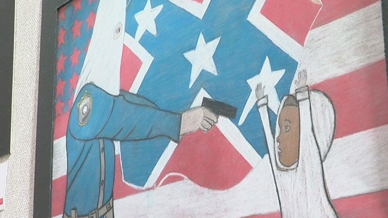 Mayor, Chief, artist dialouge about KKK drawing