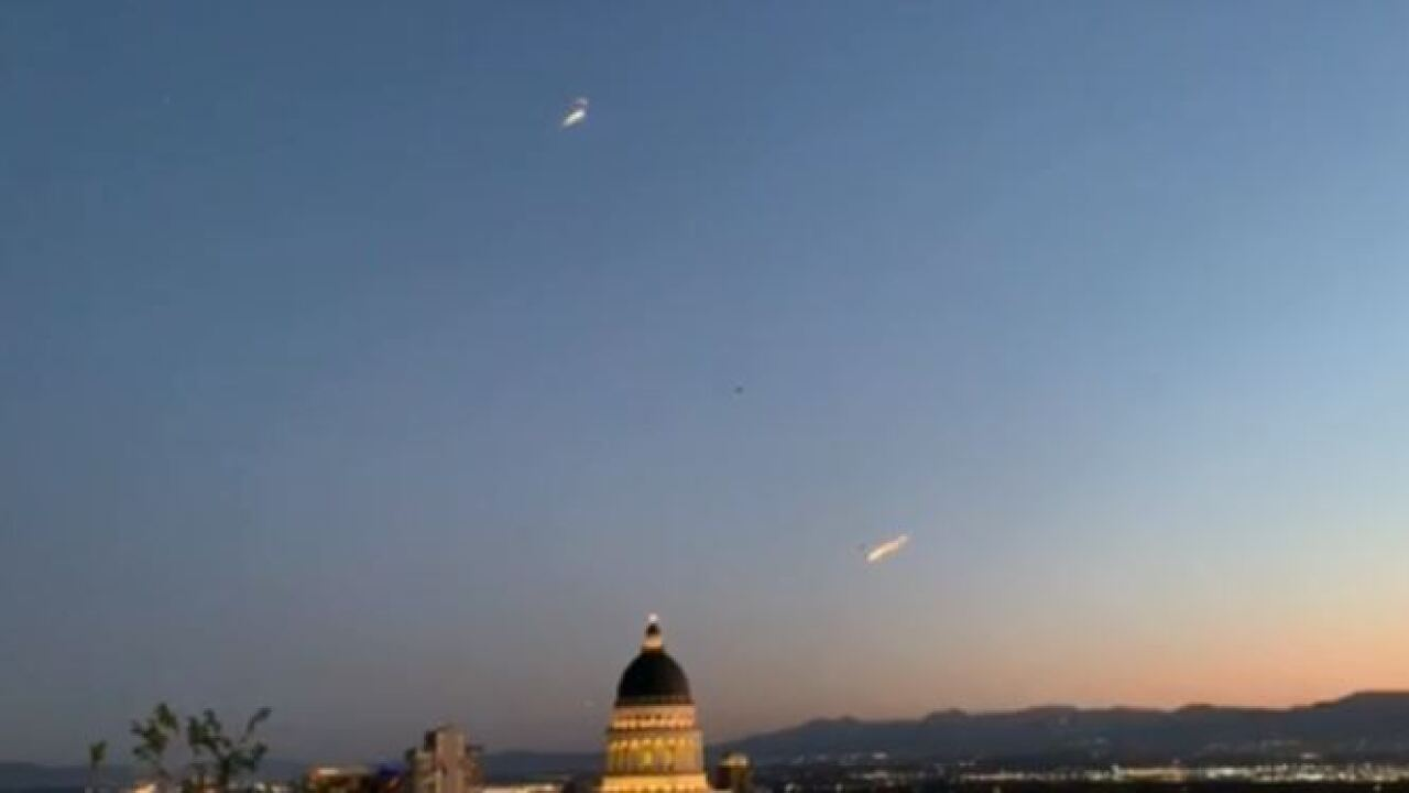 Streaks of light near Utah State Capitol likely Nitro Circus performers, Lt. Gov.says