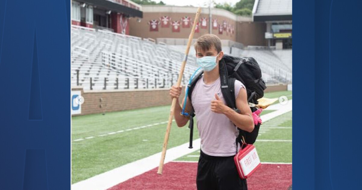 Homeless college student walks over 500 miles to raise awareness, funds for homelessness