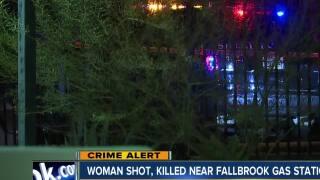 Woman shot, killed near Fallbrook gas station