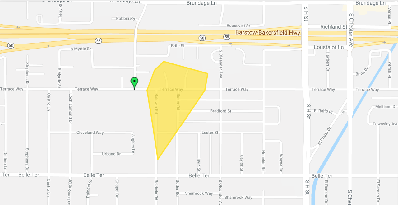 PG&E South Bakersfield Outage Jan 4 4:57 p.m.