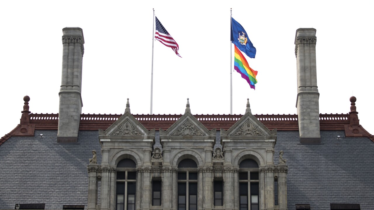 LGBTQ PRIDE FLAG RAISED OVER STATE CAPITOL FOR FIRST TIME IN HISTORY