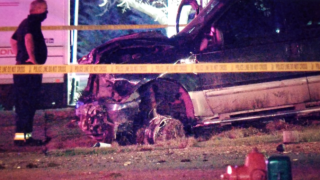 2 dead after allegedly stolen vehicle crashes into Westminster fire station_May 7 2020