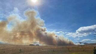 Fire reported west of Helena
