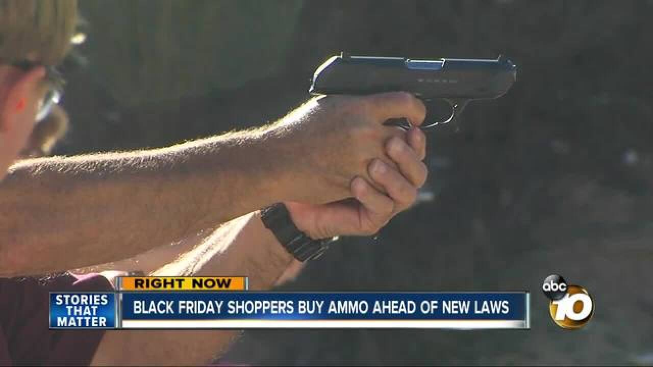 Gun owners buy ammo before law changes