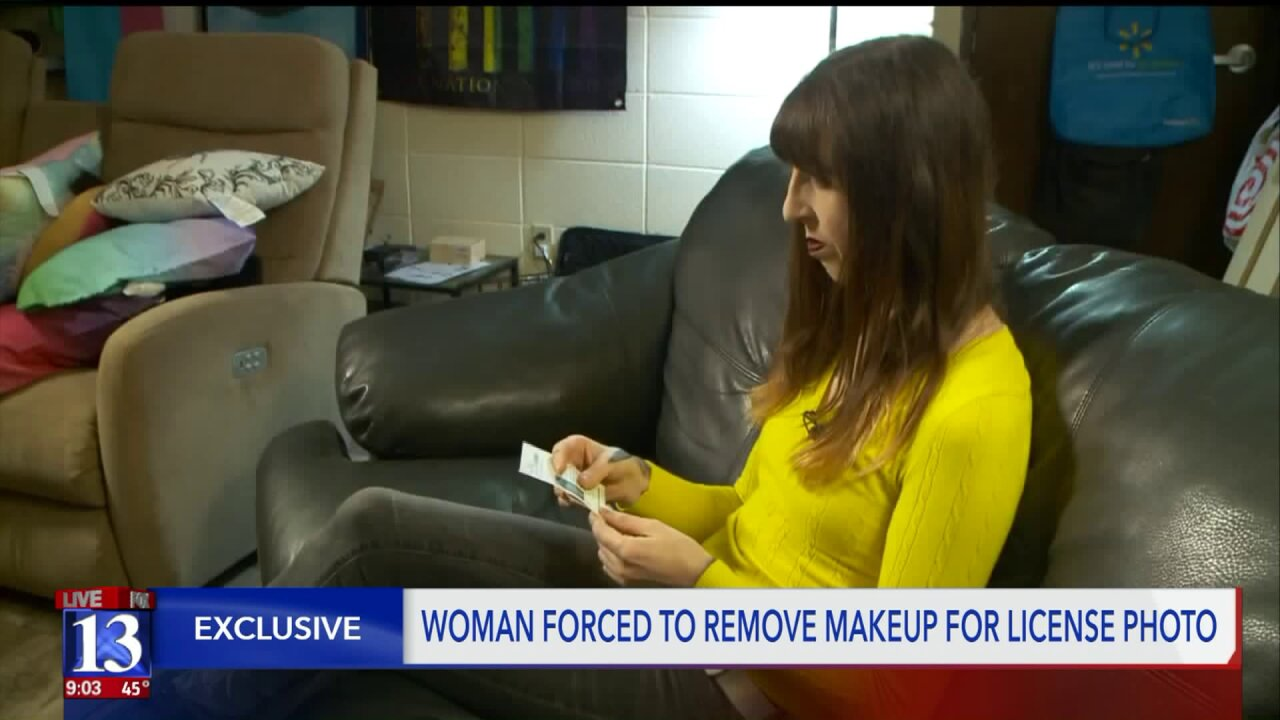 Transgender woman forced to remove makeup for Utah driver's license photo