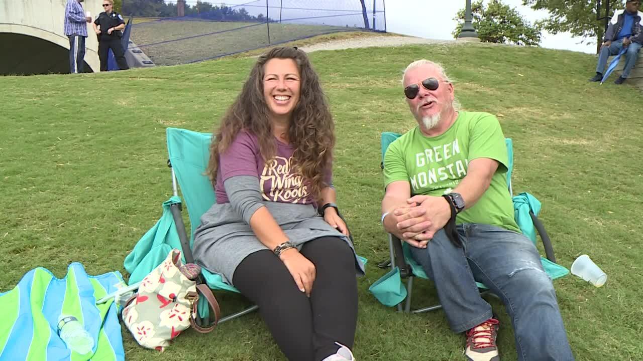 Lisa Rogerson and her husband Rick Rickman