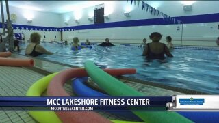Exercise class participants hold each other accountable at Lakeshore Fitness Center