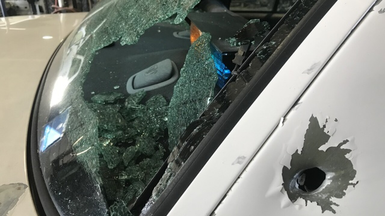 KCK police cars struck by gunfire, chief says
