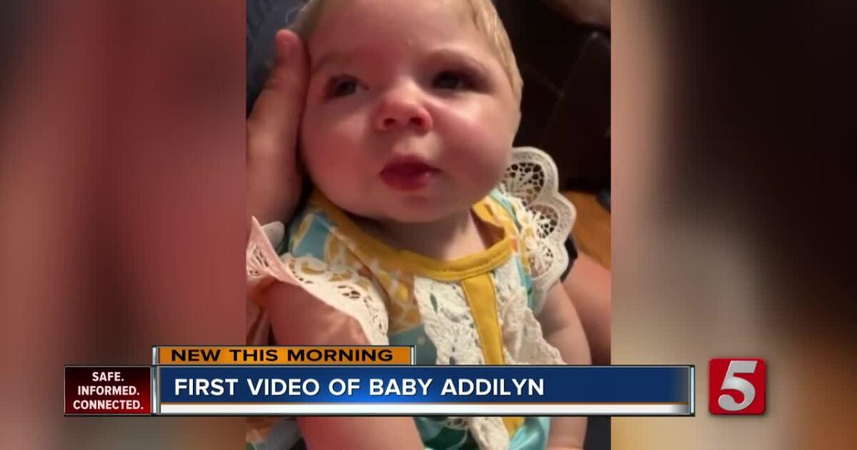 Baby Addilyn shows progress in new video