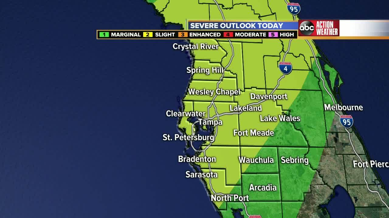 Cold Front Brings Heavy Rainfall Severe Weather To Tampa Bay Area