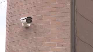Security cameras line City Hall in Boise.