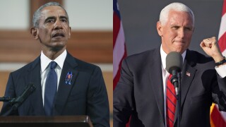 WATCH: Former President Obama, VP Pence in Florida for campaign events Saturday