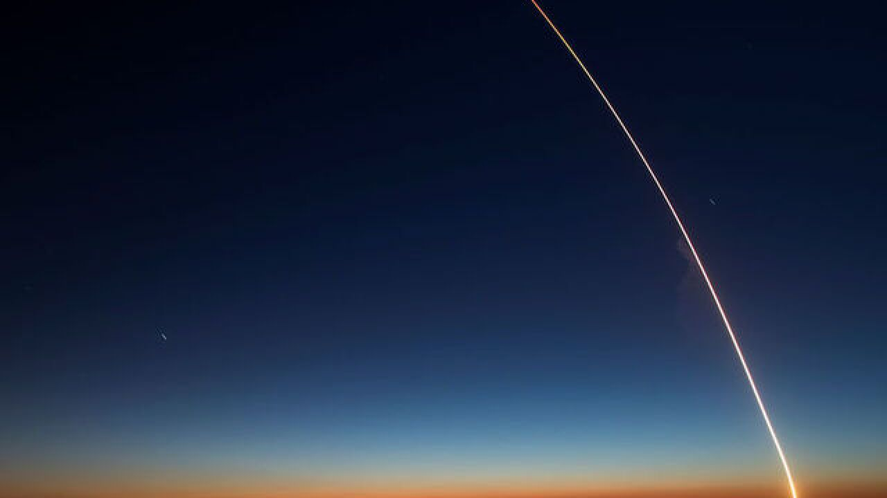 30bd8c9550d99 Watch: SpaceX rocket launch lights up the evening sky