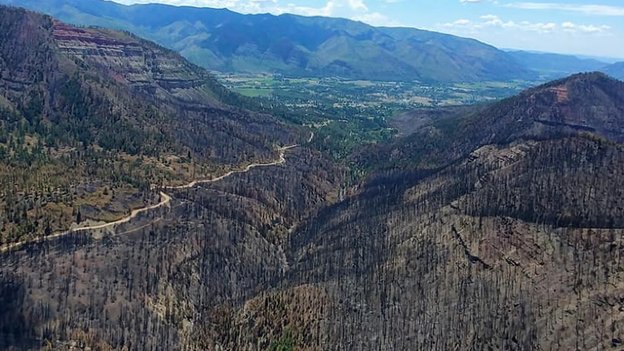 These aerial photos show the destruction of the massive 416 Fire near Durango