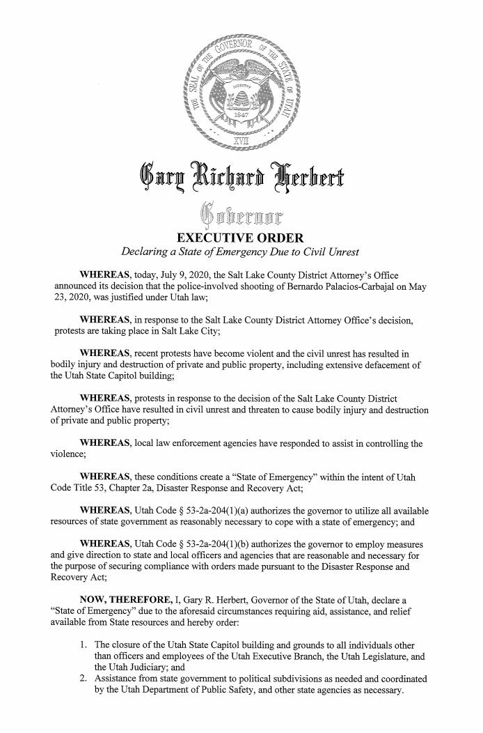 Governor Executive order