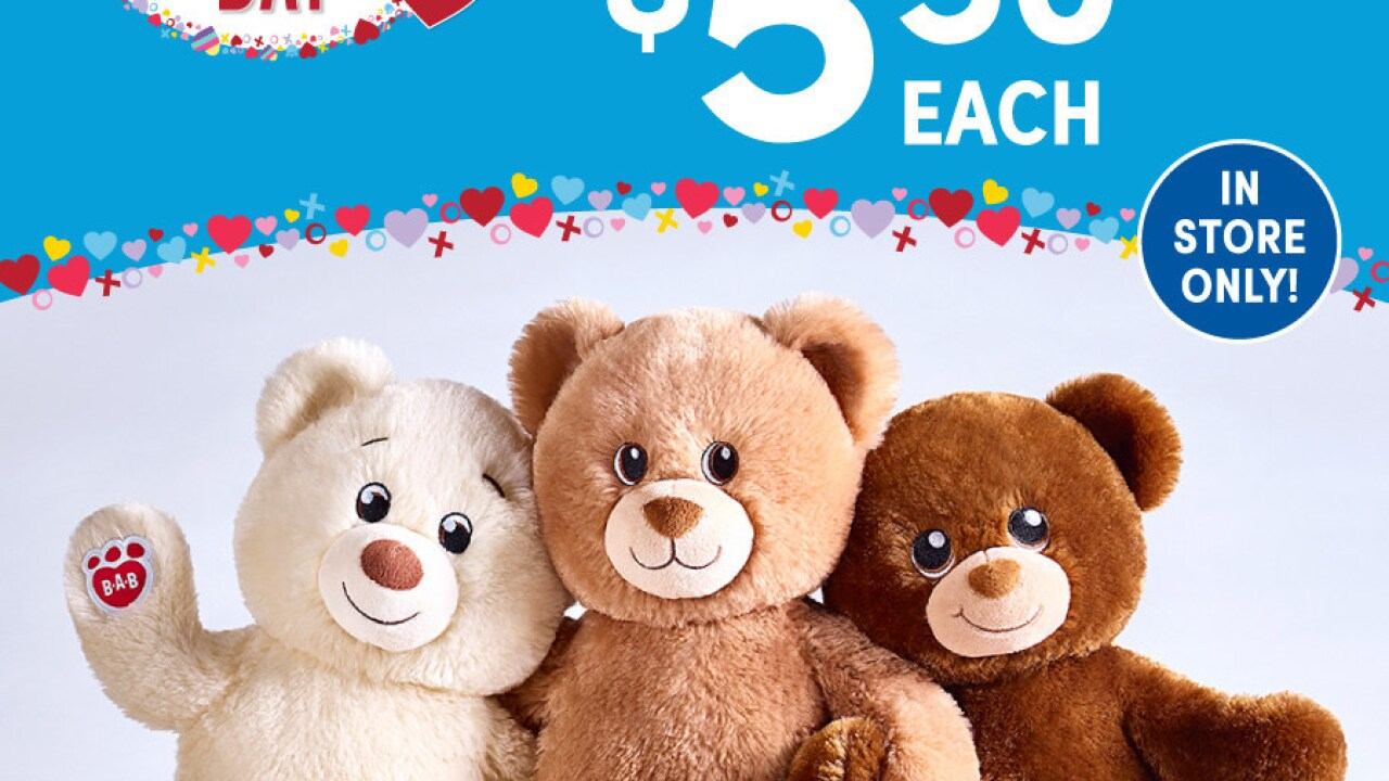 build a bear is selling bears for in honor of national hug day. Black Bedroom Furniture Sets. Home Design Ideas