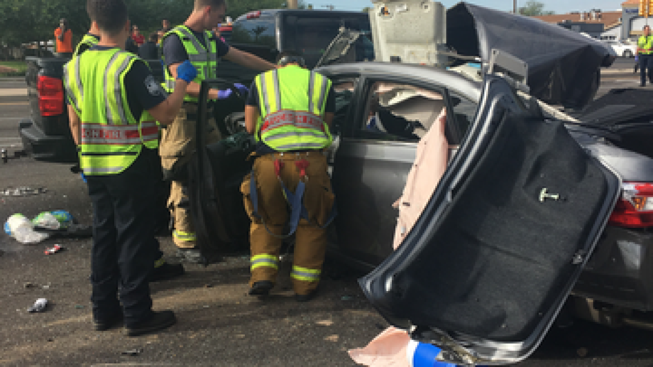 Six vehicles involved in eastside wreck