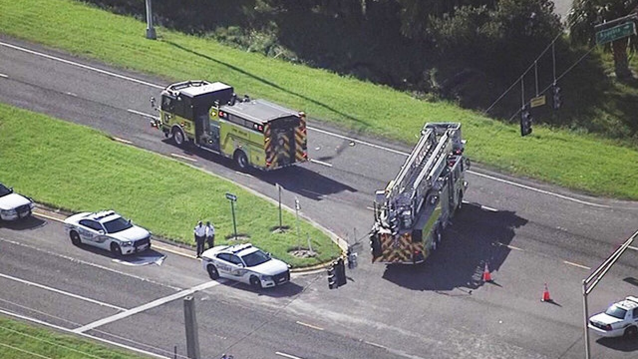 Florida firefighter falls out of fire truck, injured on way to call