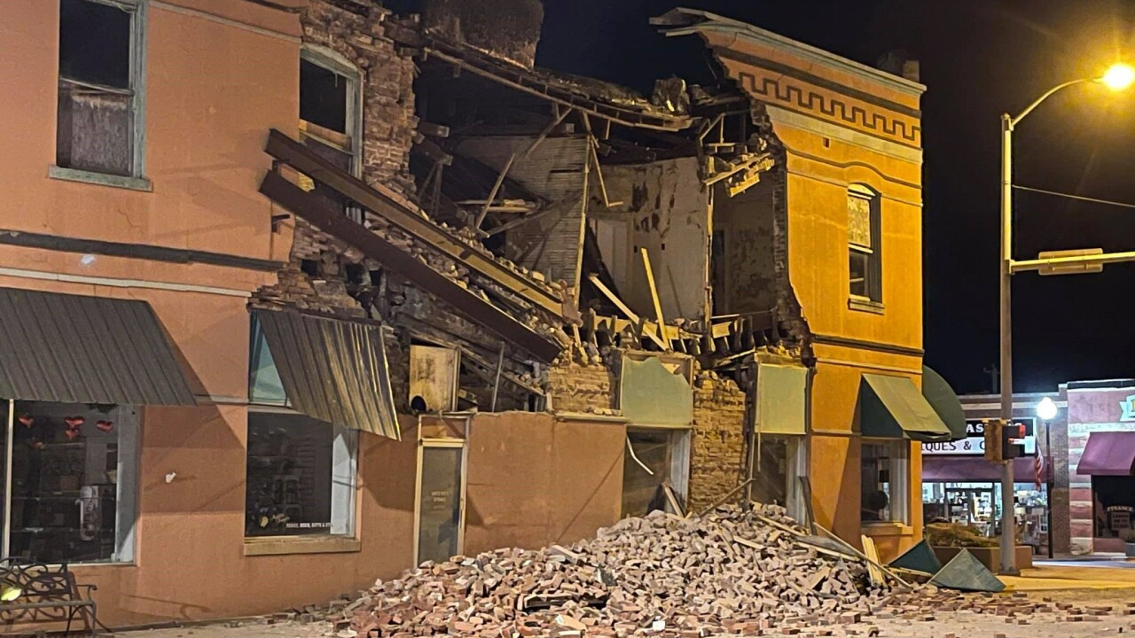 A building collapse in Eufaula