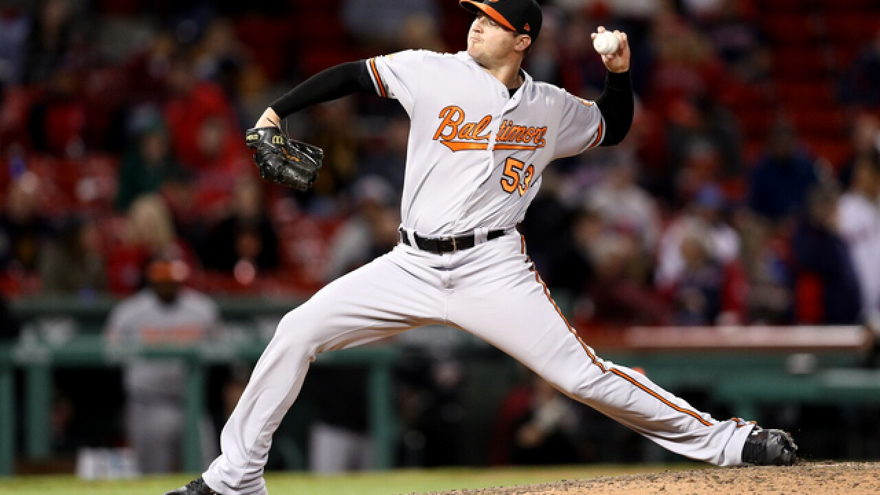 Orioles closer Britton hopes to be back sooner than later