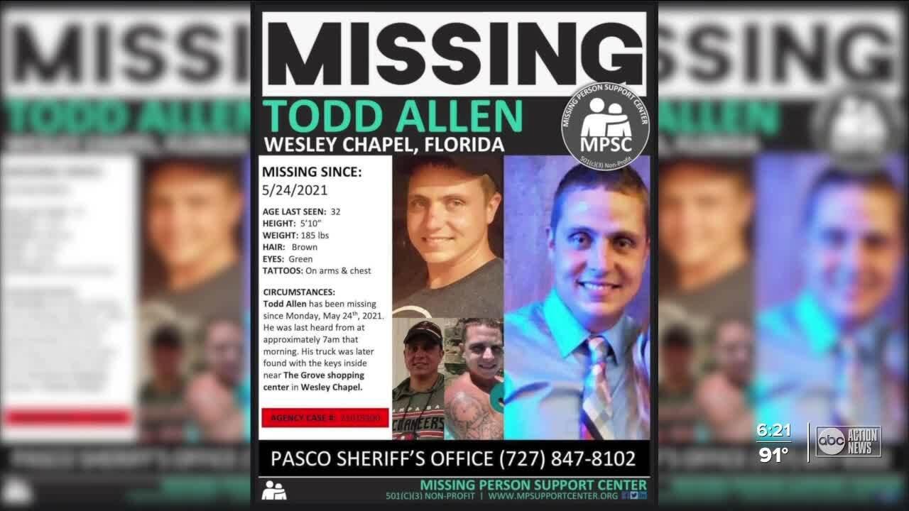 Todd Allen Missing Poster