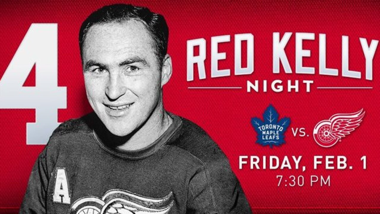 Detroit Red Wings will retire Red Kelly's No. 4 in February