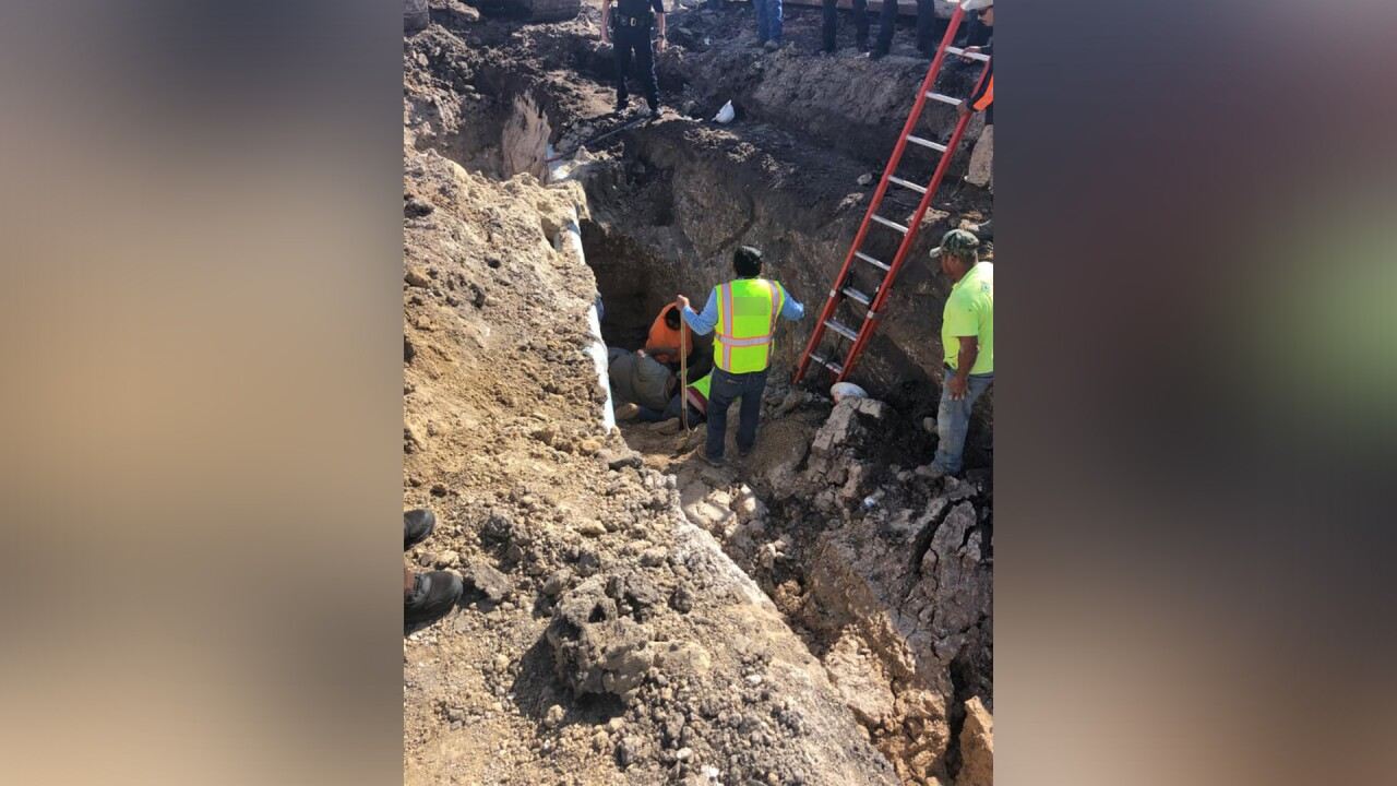 Three construction workers buried alive at work site
