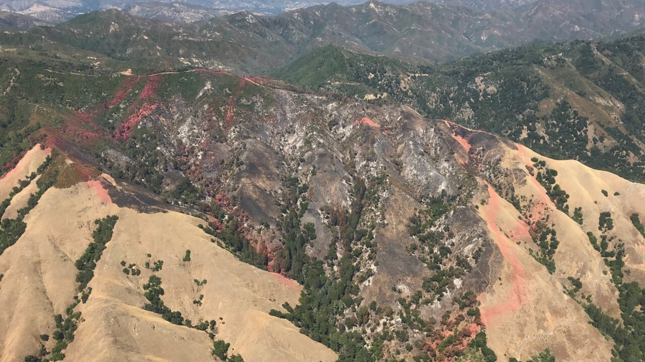 Mill Fire in Big Sur. Photo Courtesy: Los Padres National Forest