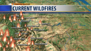 Wildfire Danger and the Temperature Dips After Hellacious Weekend