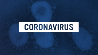 Coronavirus blue background