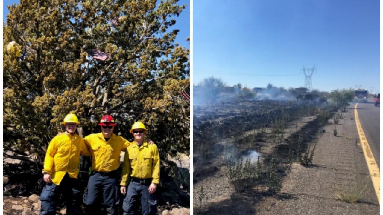 Christmas Tree Farm Arizona.Brush Fire Nearly Burns I 17 Christmas Tree