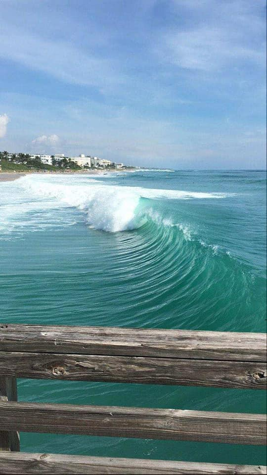 The view from the pier in Lake Worth Beach on Sunday, September 20, 2020.