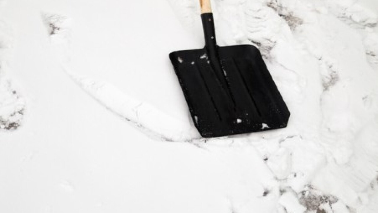 Man reportedly found frozen after shoveling snow