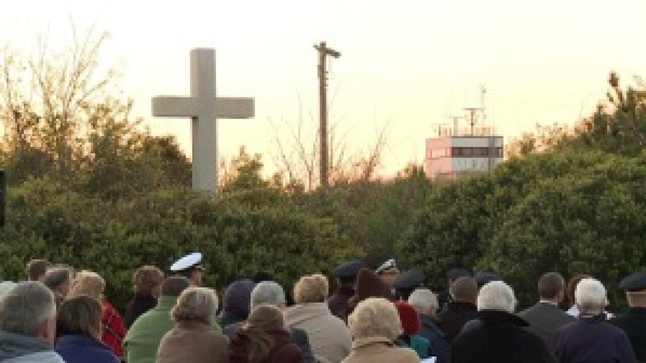Jet crash survivors attend annual Easter sunrise service