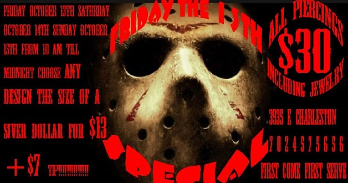 Where To Get Your Friday The 13th Tattoo In Las Vegas