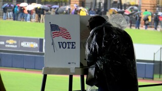 Early voting at ONEOK Field