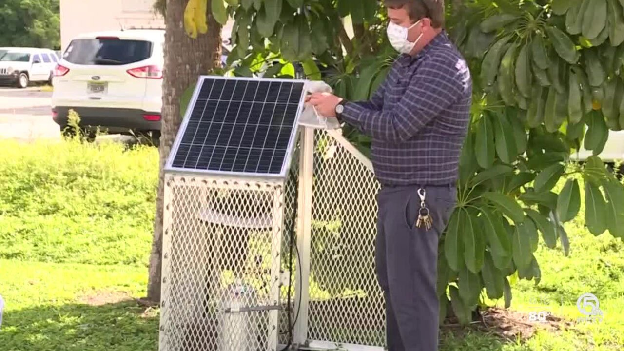 St. Lucie County Mosquito Control trap