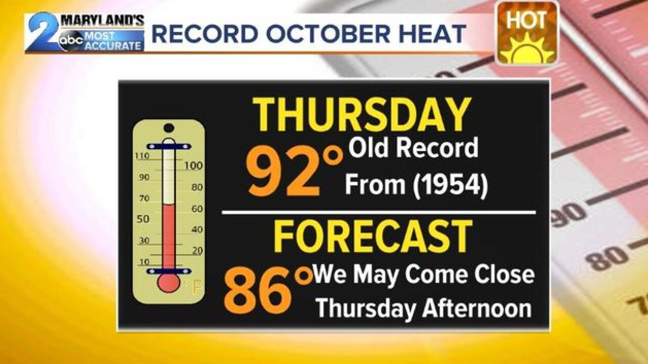 OCTOBER ARRIVES: Summer-like Air Sticks Around