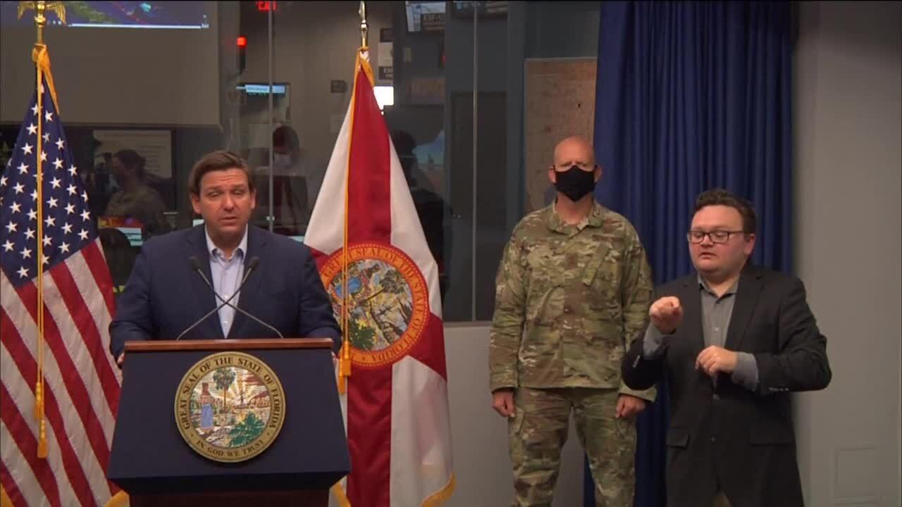 Gov. Ron DeSantis Hurricane Isaias news conference, Aug. 1, 2020