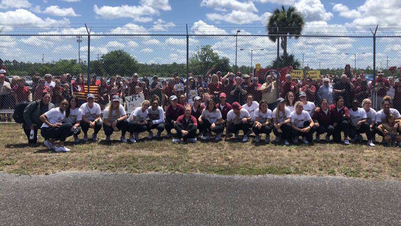FSU softball team arrives home after championship series