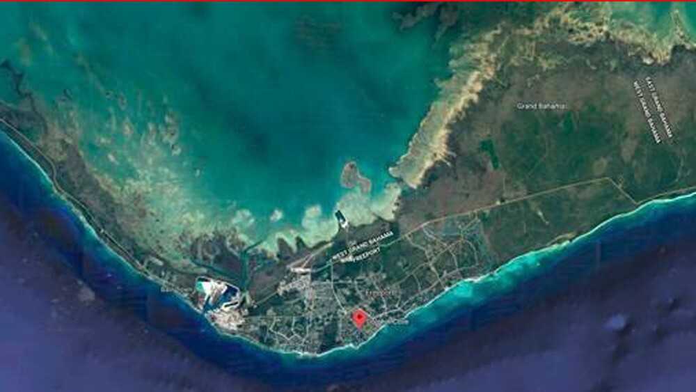 Grand Bahama island before Hurricane Dorian made landfall.
