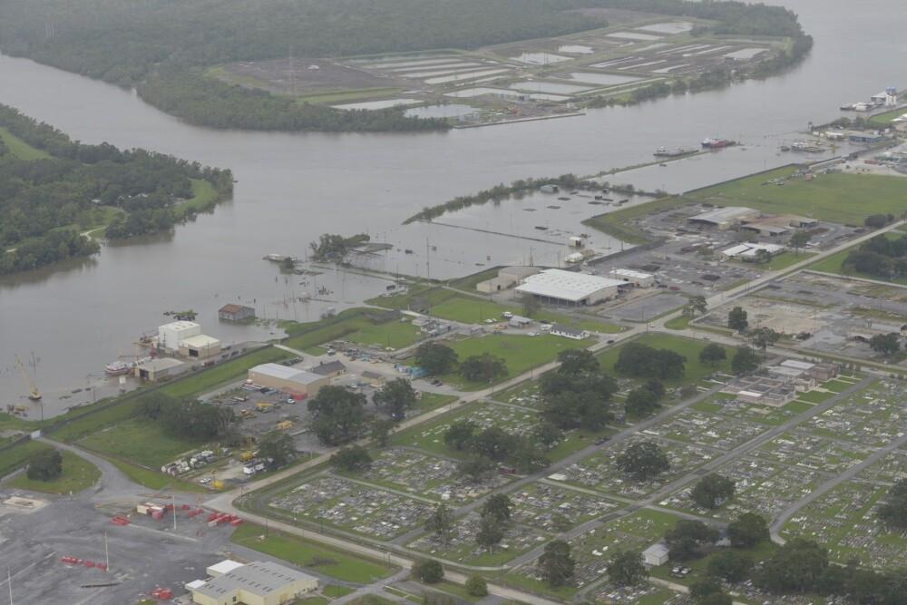 Coast Guard survey of Barry damage