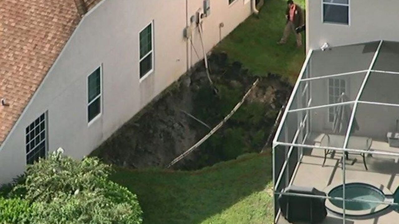 2 Families Displaced After After Sinkhole Opens In Florida