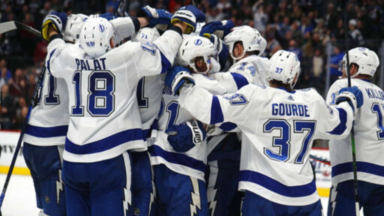 tampa bay lightning top colorado avalanche in overtime for franchise best 11th straight win tampa bay lightning top colorado